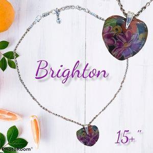 BRIGHTON Floral Resin Pendant Necklace